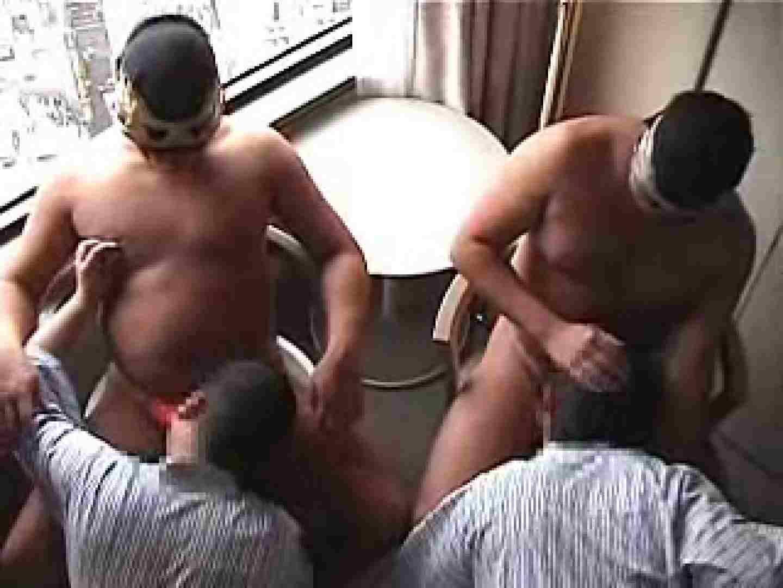覆面レスラーvs兄貴のアナルタッグマッチ アナル舐め舐め ゲイ肛門画像 97pic